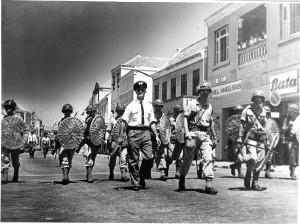 Politieel en militair optreden bij revolte van mei '69, Willemstad, Curaçao.