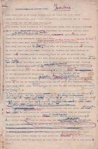 Boeli - typoscript met handgeschreven correcties - Inventaris p 1 - foto AGB - red.