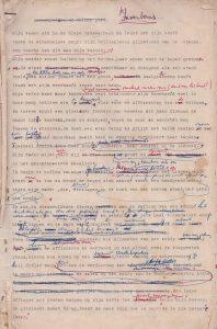 Boeli van Leeuwe - typoscript met handgeschreven correcties - titel: Inventaris, p 1 - foto Aart G. Broek