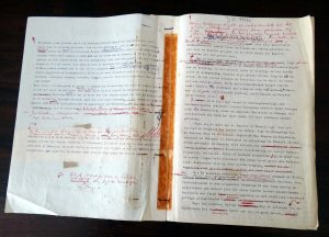 Boeli van Leeuwen - typoscript 30 mei - foto res. A.G. Broek