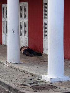 Dakloze in Aruba